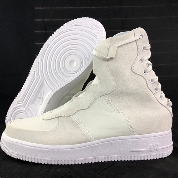 new concept 4a789 905c0 Nike W AF1 Rebel XX Air Force 1 Off White Silver NWT